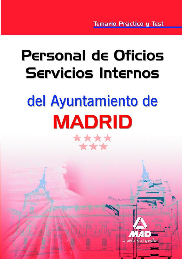 Personal de oficios servicios internos, ayuntamiento de madr