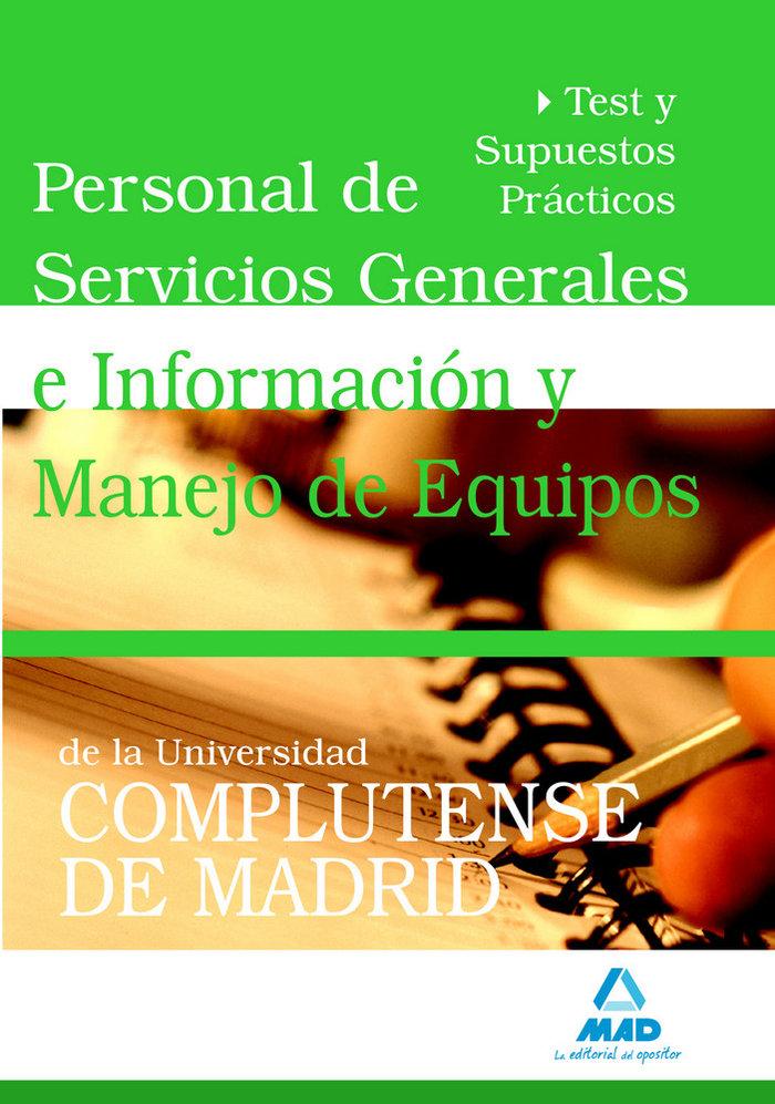 Personal de servicios generales e informacion y manejo de eq