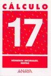 Cuaderno calculo 17 ep numeros decimales restas