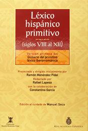 Lexico hispanico primitivo viii-xii