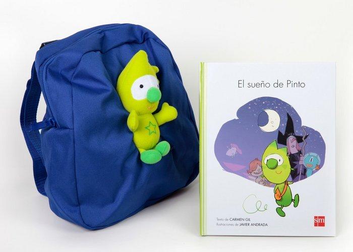 Sueño de pinto+muñeco+mochila 4años