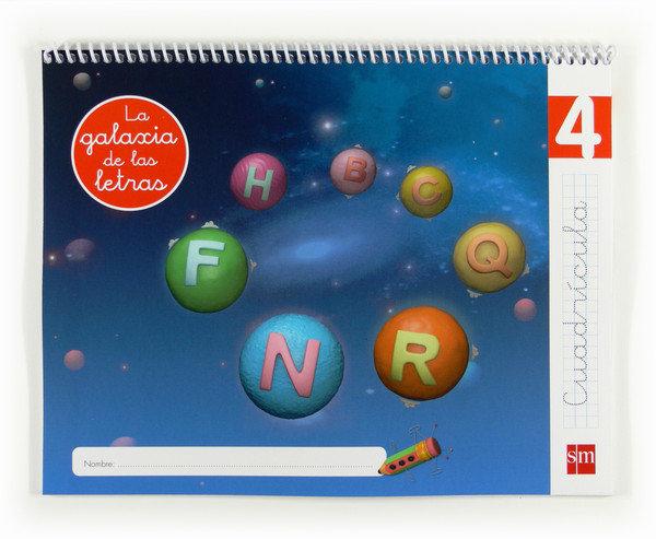 Lectoescritura 5años galaxia 4 cuadricula 12 letra