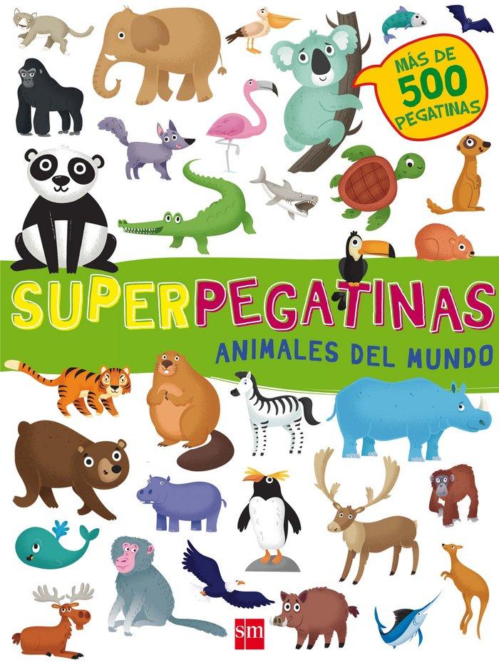 Animales del mundo superpegatinas