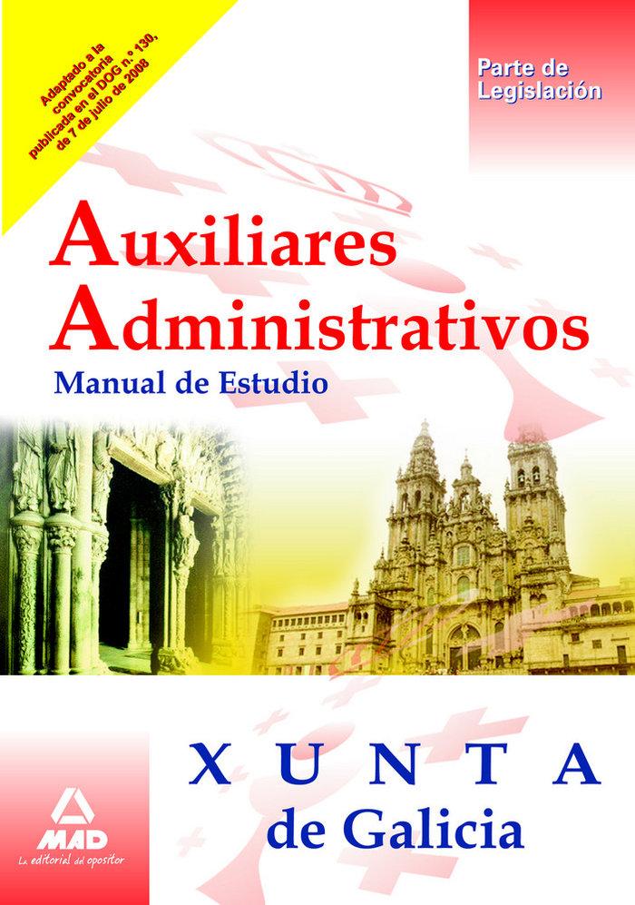 Auxiliares administrativos, xunta de galicia. manual de estu
