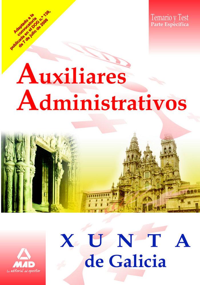 Auxiliares administrativos, xunta de galicia. temario y test
