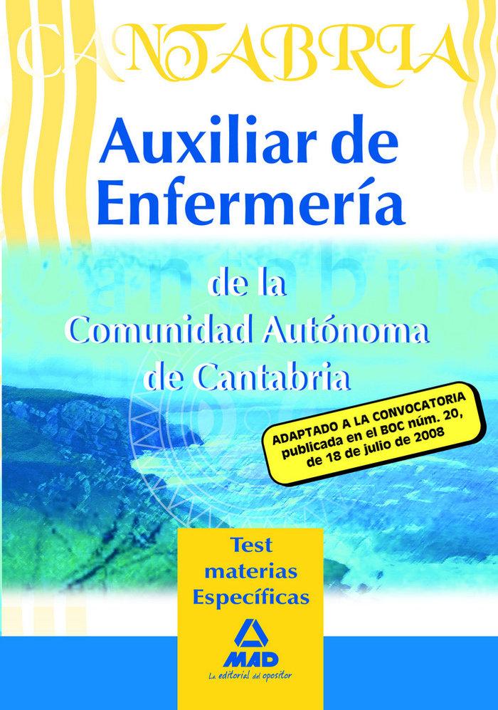 Auxiliares de enfermeria, comunidad autonoma de cantabria. t