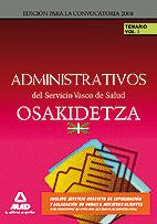 Administrativos del servicio vasco de salud/osakidetza. tema