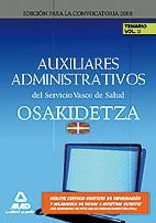 Auxiliares administrativos del servicio vasco de salud/osaki