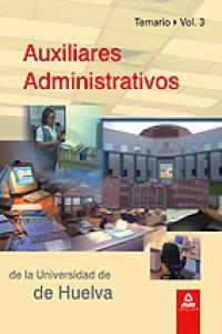 Auxiliares administrativos de la universidad de huelva iii