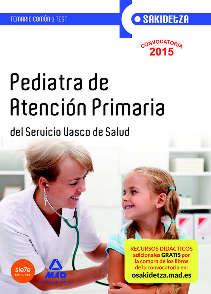 Pediatra de atencion primaria de osakidetza-servicio vasco d