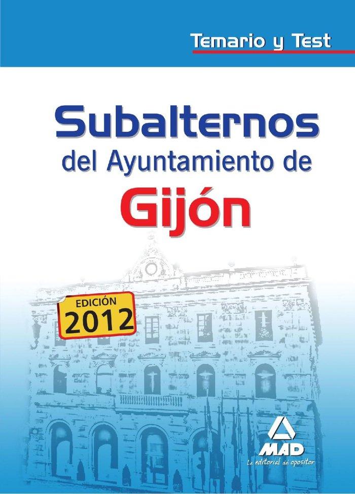 Subalternos, ayuntamiento de gijon. temario y test