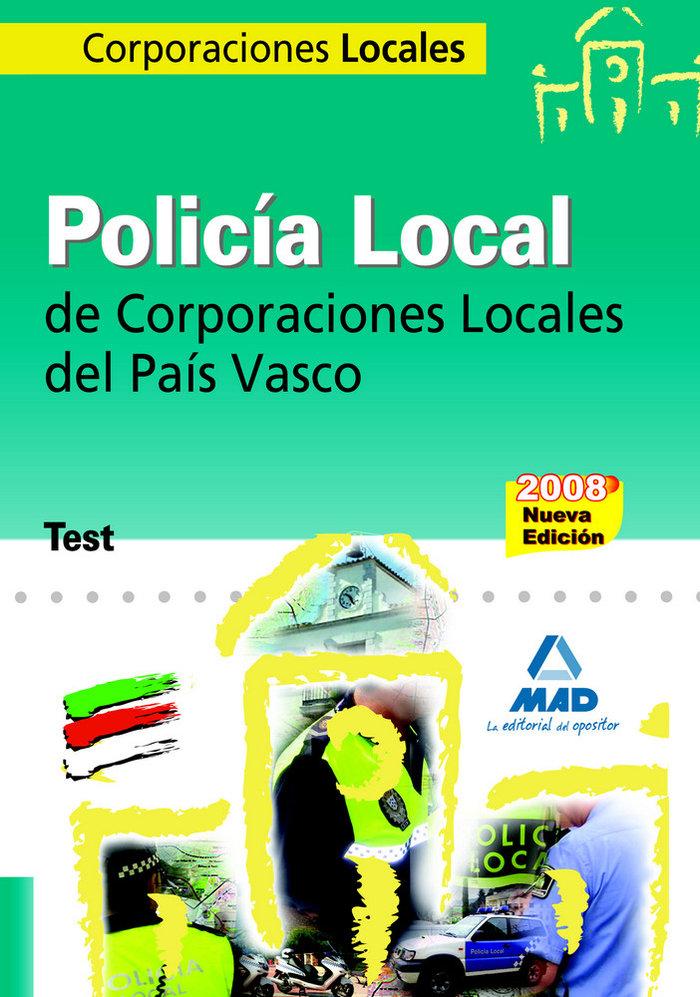 Policia local, corporaciones locales, pais vasco. test
