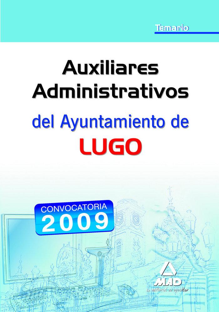 Auxiliares administrativos, ayuntamiento de lugo. temario