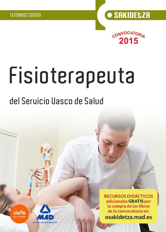 Fisioterapeuta osakidetza servicio vasco salud tema comun