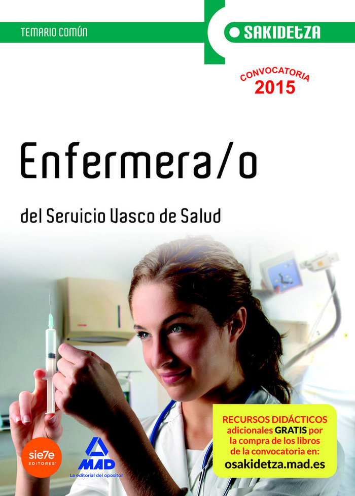 Enfermera/o servicio vasco salud temario comun
