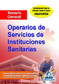 Operarios de servicios, instituciones sanitarias. temario ge