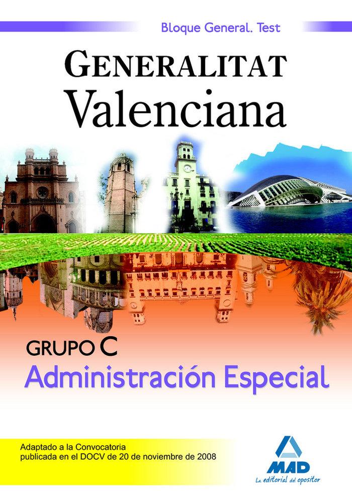Administracion especial, grupo c, generalitat valenciana. te