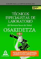 Tecnicos especialistas de laboratorio del servicio vasco de