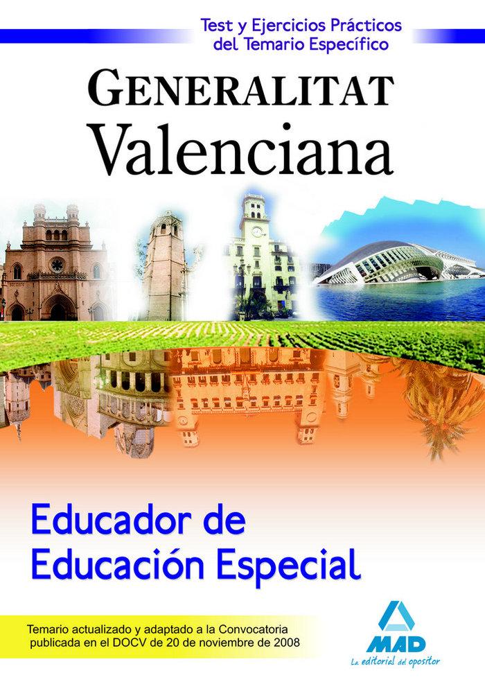 Educador educacion especial, generalitat valenciana. test de