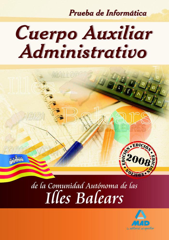 Cuerpo auxiliar administrativo, comunidad autonoma de las il