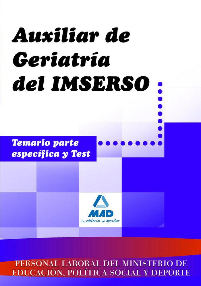 Auxiliar geriatria inserso temario espedifico y test 08
