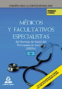 Medicos y facultativos especialistas, servicio de salud del