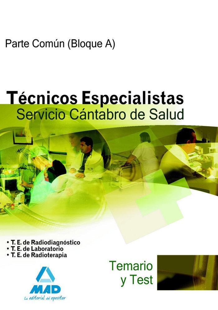 Tecnicos especialistas, servicio cantabro de salud. temario
