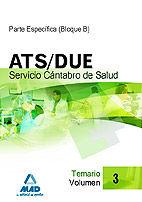 Ats/due del servicio cantabro de salud. temario volumen iii
