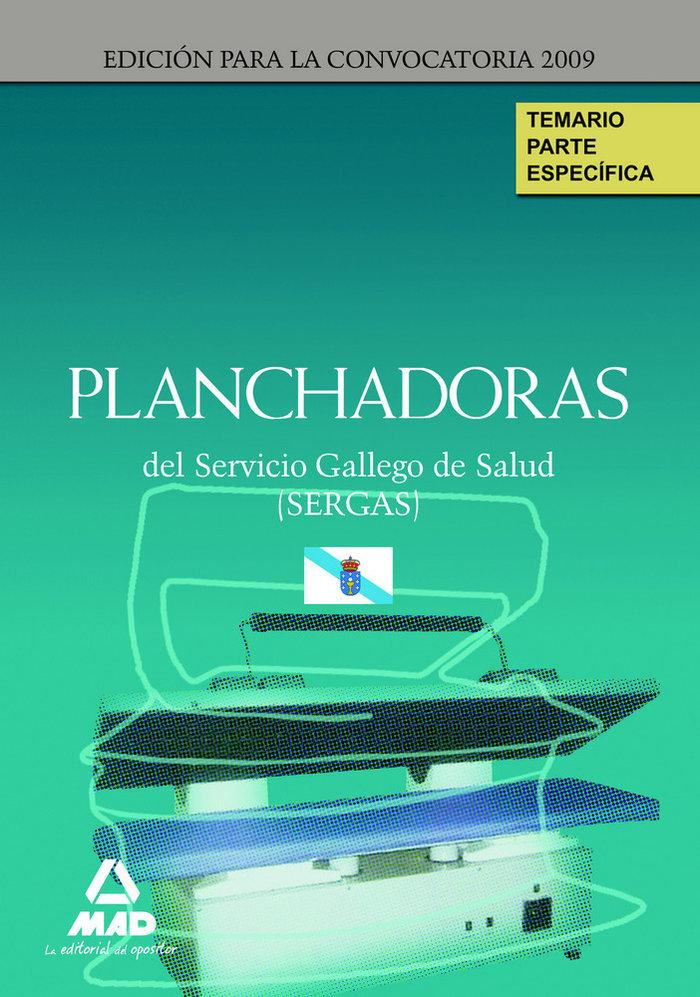 Planchadoras, servicio gallego de salud (sergas). temario de