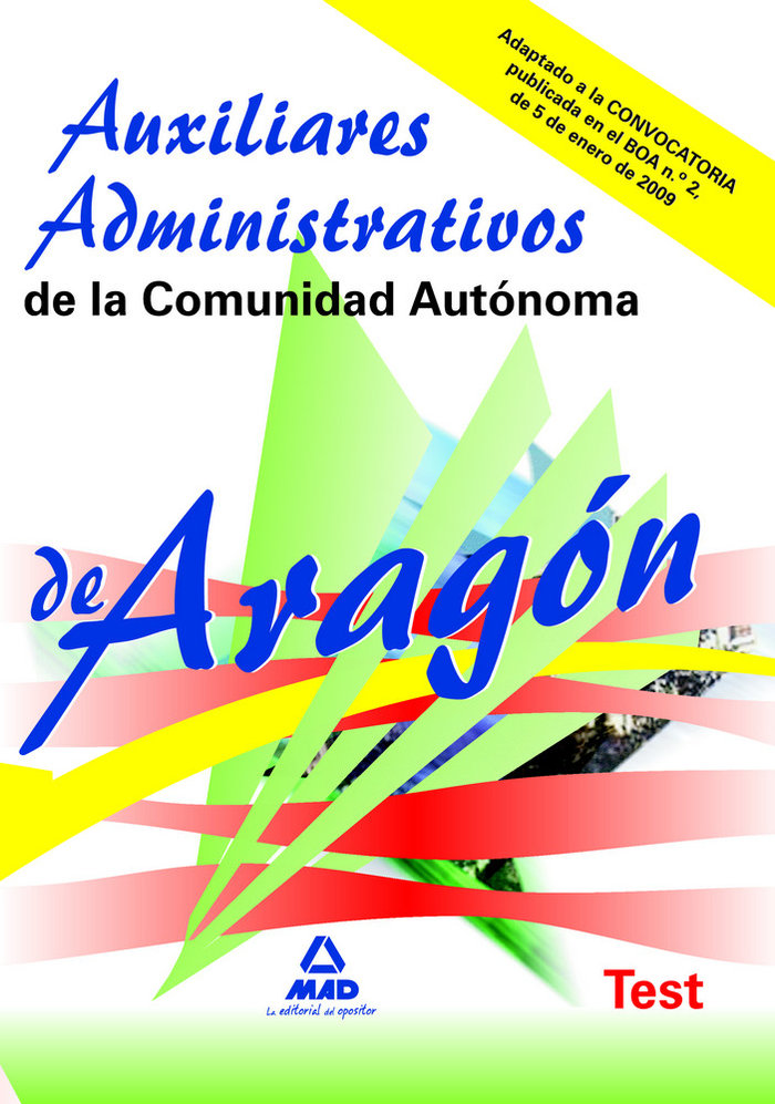 Auxiliares administrativos, comunidad autonoma de aragon. te