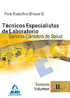 Tecnicos especialistas de laboratorio del servicio cantabro