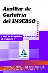 Auxiliar de geriatria del imserso anexo i