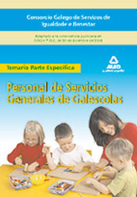 Personal de servicios generales, galescolas del consorcio ga
