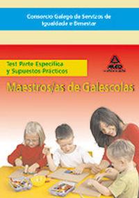 Maestros/as galescolas del consorcio galego de servizos de