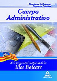 Cuerpo administrativo, comunidad autonoma de las illes balea