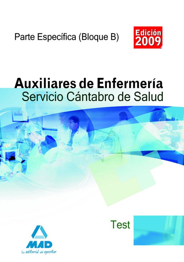 Auxiliares de enfermeria, servicio cantabro de salud. test p
