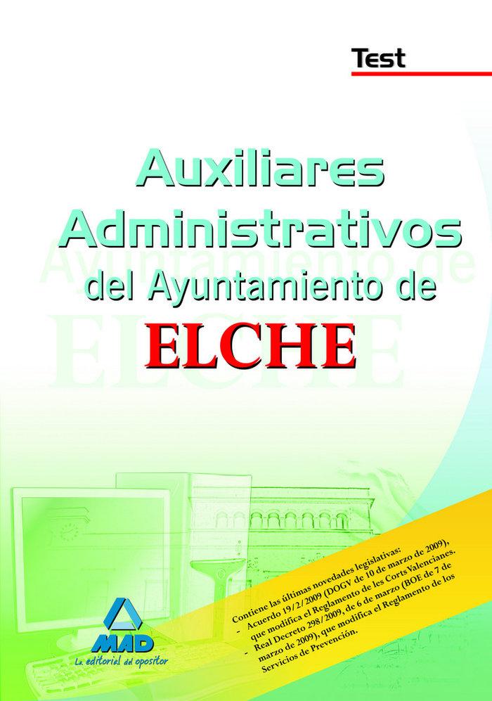Auxiliares administrativos, ayuntamiento de elche. test