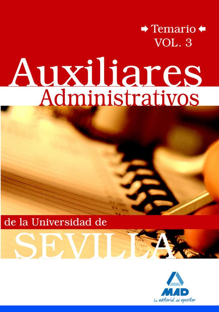 Auxiliares admin.univ.sevilla temario iii 2009