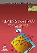 Administrativos del servicio gallego de salud (sergas). tema