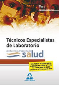 Tecnicos especialistas de laboratorio, servicio aragones de