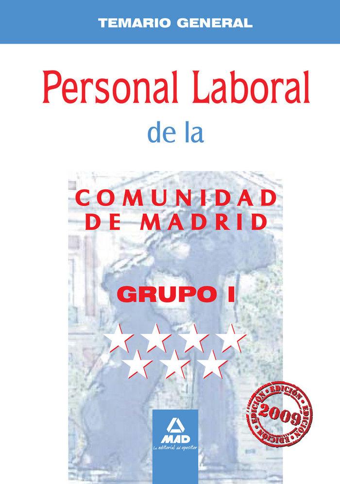 Personal laboral, grupo i, comunidad de madrid. temario gene