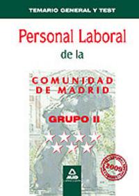 Personal laboral, grupo ii, comunidad de madrid. temario gen