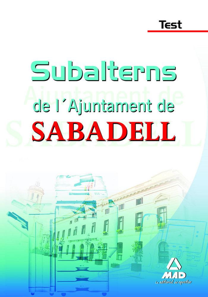 Subalterns, ajuntament de sabadell. test