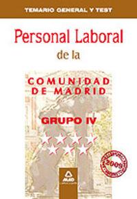 Personal laboral, grupo iv, comunidad de madrid. temario gen