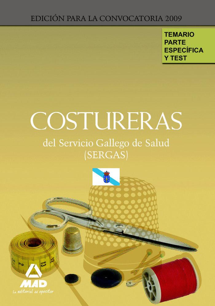Costureras del servicio gallego de salud (sergas). temario p