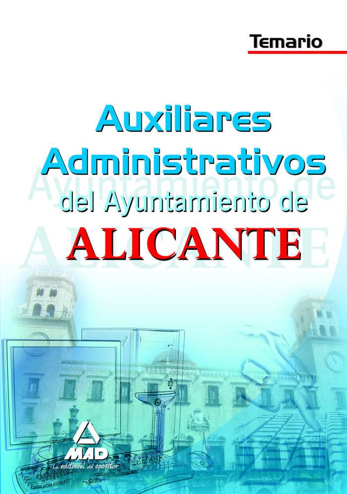Auxiliares administrativos, ayuntamiento de alicante. temari