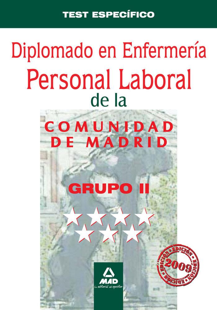 Diplomado en enfermeria, grupo ii, personal laboral, comunid