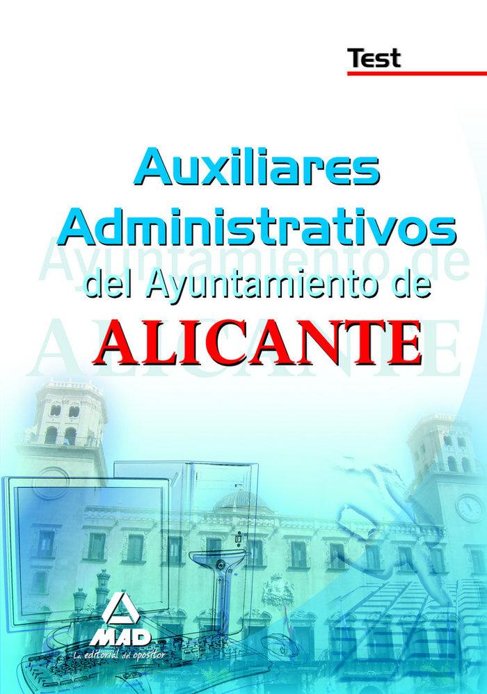 Auxiliares administrativos, ayuntamiento de alicante. test