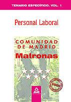 Matronas personal laboral de la comunidad de madrid. temario