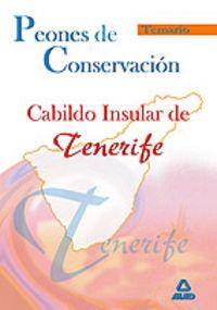 Peones de conservacion, cabildo insular de tenerife. temario